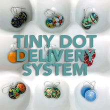 Load image into Gallery viewer, Tiny Dot Delivery System of Tin Earrings