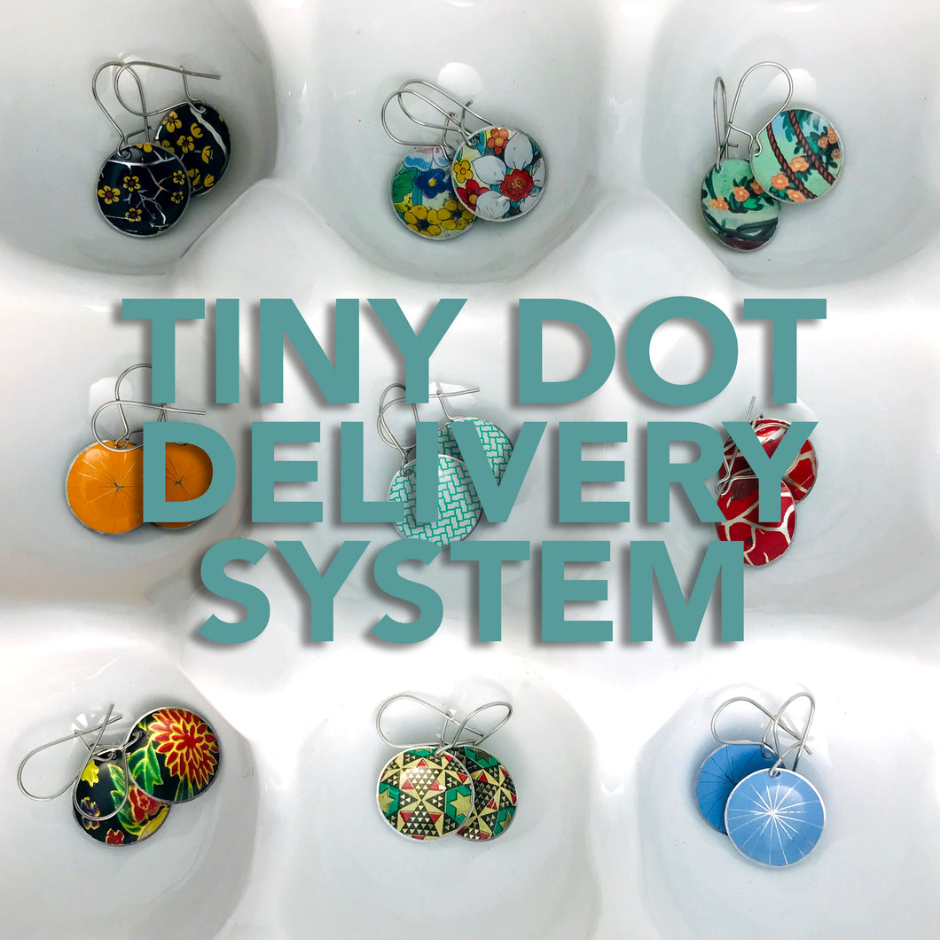 Tiny Dot Delivery System of Tin Earrings