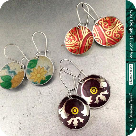 Mystery 3 Pair Zero Waste Tiny Basin Tin Earring Combo Pack
