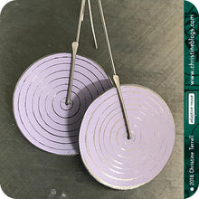 Load image into Gallery viewer, Modern White Etched Concentric Circle Small Upcycled Tin Earrings
