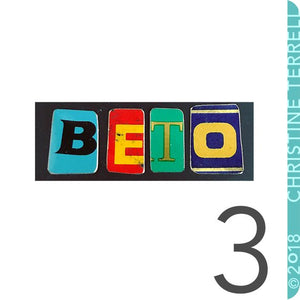Beto for Texas Upcycled Tin Necklace Ethical Fashion