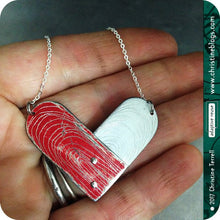 Load image into Gallery viewer, Etched Tin Heart Recycled Necklace