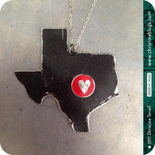 Load image into Gallery viewer, Heart of Texas Recycled Tin Necklace 30th Birthday Gift