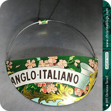 Load image into Gallery viewer, Anglo Italiano Pink Flowers Upcycled Tin Pendant
