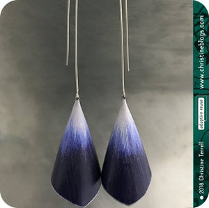 Deep Purple Ombré Recycled Conical Tin Earrings