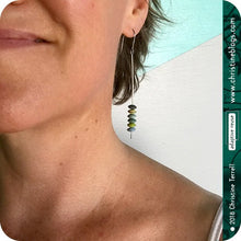 Load image into Gallery viewer, Mixed Yellows Aquas & Greens Tiny French Macarons Tin Earrings