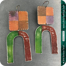 Load image into Gallery viewer, Rustic Carnival Upcycled Tin Earrings