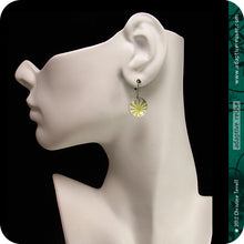 Load image into Gallery viewer, Intricate Pattern Upcycled Tiny Dot Earrings