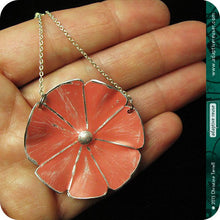 Load image into Gallery viewer, Gelato Colors Upcycled Tin Flower Necklace