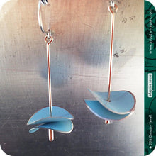Load image into Gallery viewer, Cool Gray Radio Waves Zero Waste Tin Earrings