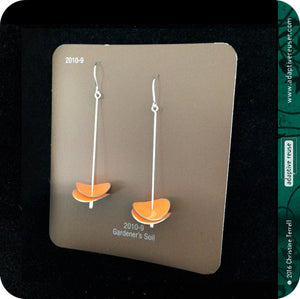 Sap Green Radio Waves Zero Waste Tin Earrings