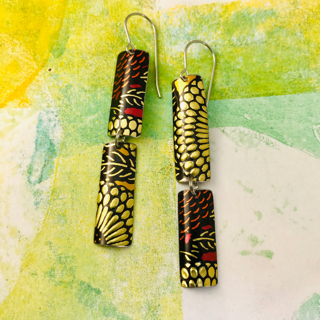 Mixed Voluspa Pattern Recycled Tin Earrings