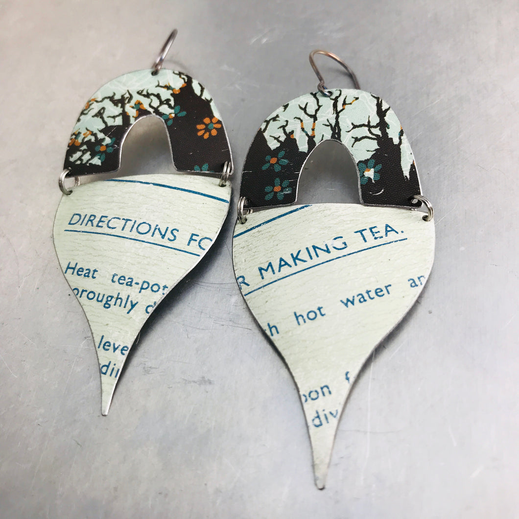 Directions for Making Tea Mixed Arches Upcycled Tin Earrings