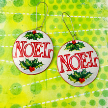 Load image into Gallery viewer, Big Noel Ovals Zero Waste Tin Earrings