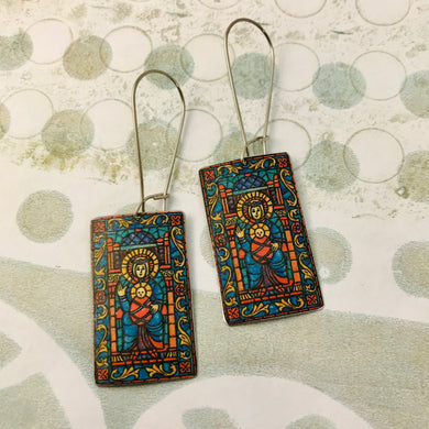 Stained Glass Windows Upcycled Tin Earrings