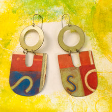 Load image into Gallery viewer, Si So Chunky Horseshoes Zero Waste Tin Earrings