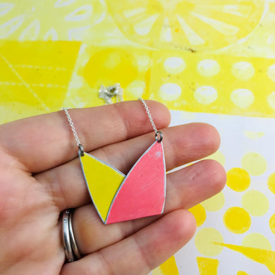 Folded Leaf Zero Waste Tin Necklace