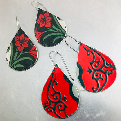 Mystery 2 Pair Teardrop Tin Earring Combo Pack