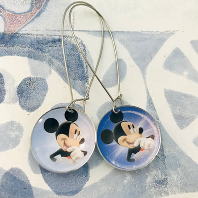 Mickey Mouse Large Basin Tin Earrings