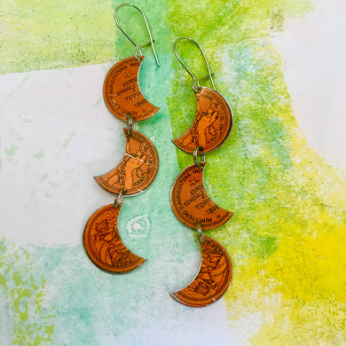 Biscotti Coin Crescents Upcycled Tin Earrings