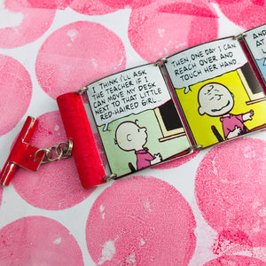 Charlie Brown Comic Strip Upcycled Tin Bracelet