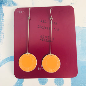 Dreamsicle Hand Etched--Drop Earrings