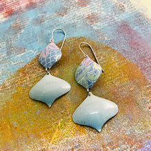 Load image into Gallery viewer, Soft Blues Rex Ray Zero Waste Tin Earrings