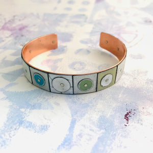 All Whites Upcycled Tesserae Tin Cuff