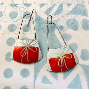 Red Present Zero Waste Tin Earrings
