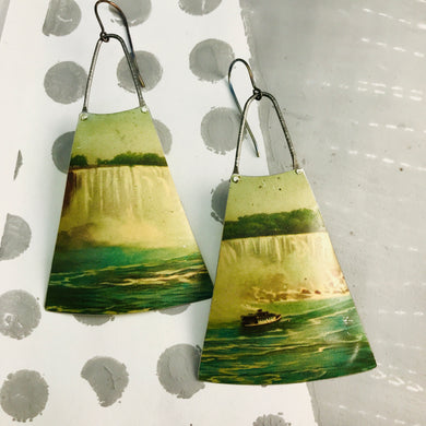 Niagara Falls Zero Waste Tin Long Fans Earrings