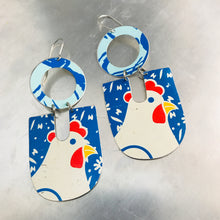 Load image into Gallery viewer, Chunky Chicken Chunky Horseshoes Zero Waste Tin Earrings
