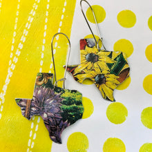 Load image into Gallery viewer, Black Eyed Susans  Upcycled Tin Earrings