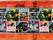 Load image into Gallery viewer, Star Wars Comic Pattern Chunky Horseshoes Zero Waste Tin Earrings