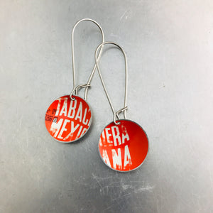 Type on Bright Red Little Basin Earrings