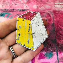 Load image into Gallery viewer, Edifice 2 Upcycled Tin Brooch/Necklace