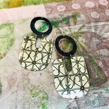 Load image into Gallery viewer, Wrought Iron Shimmery Gold Chunky Horseshoes Zero Waste Tin Earrings