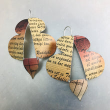 Load image into Gallery viewer, Abstract Butterflies Typography Zero Waste Tin Earrings