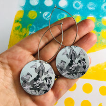 Load image into Gallery viewer, Micky & Friends Big Circle Tin Earrings