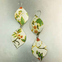 Load image into Gallery viewer, Tiny Blossoms & Green Leaves Zero Waste Tin Earrings