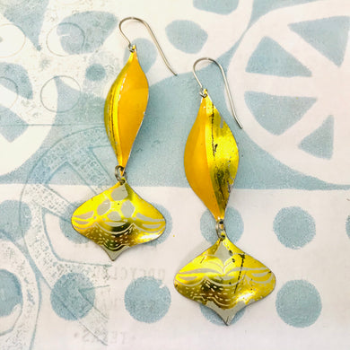 Orange and Gold Rex Ray Zero Waste Tin Earrings