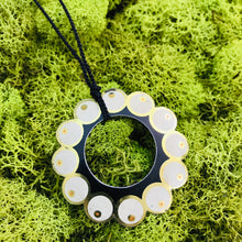 Load image into Gallery viewer, Circle of Pearls Upcycled Tin Necklace