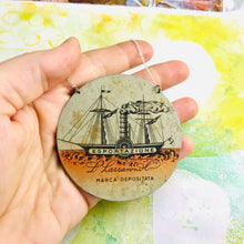 Load image into Gallery viewer, Esportazione Circle Upcycled Tin Necklace