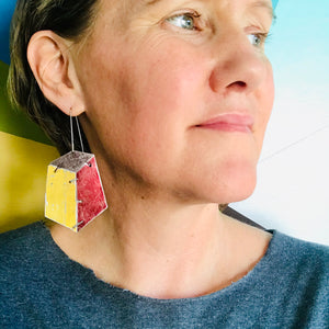 Edifice Goldenrod Upcycled Tin Earrings