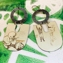 Load image into Gallery viewer, Field Goal Chunky Horseshoes Zero Waste Tin Earrings