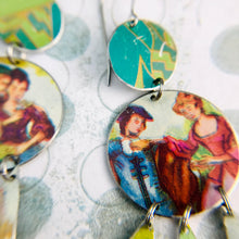 Load image into Gallery viewer, Victorian Couples Zero Waste Tin Chandelier Earrings