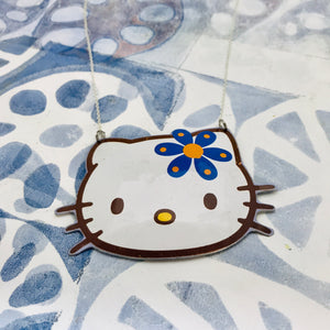 Hello Kitty Blue Flower Zero Waste Tin Necklace