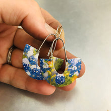 Load image into Gallery viewer, Bluebonnets Little Us Upcycled Tin Earrings