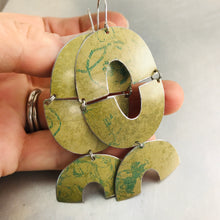 Load image into Gallery viewer, Mossy Triple Little Us Upcycled Tin Earrings
