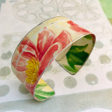 Load image into Gallery viewer, Pink Blossoms Upcycled Tin Cuff