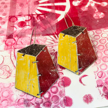 Load image into Gallery viewer, Edifice Goldenrod Upcycled Tin Earrings